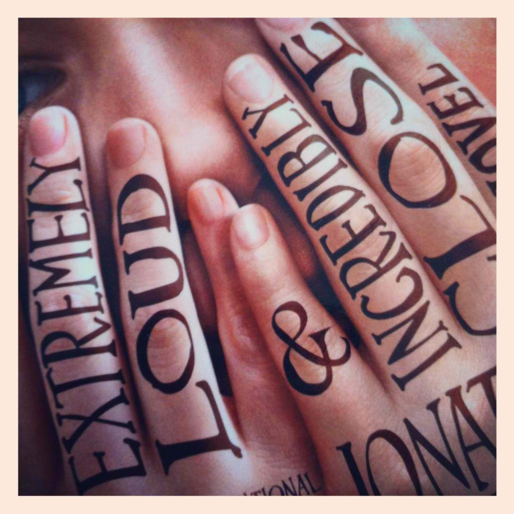 Using Janson Text on Thomas Horn's fingers for the film adaptation